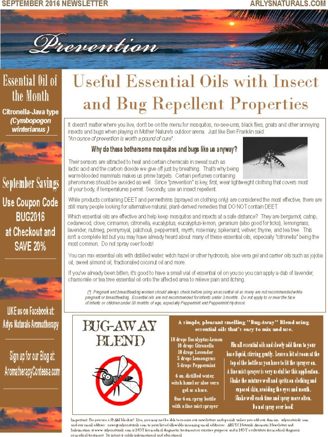 Sept 2016 Newsletter Prevention