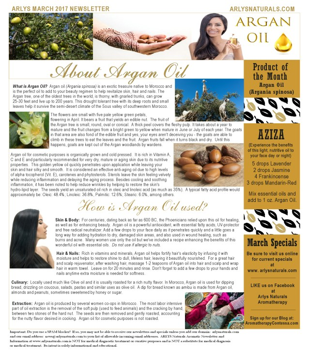 march2017newsletterarganoil