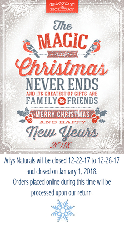 From all of us here at Arlys Naturals – Merry Christmas and Happy ...