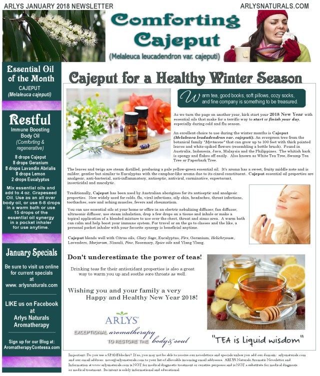 Jan 2018 Cajeput Newsletter2