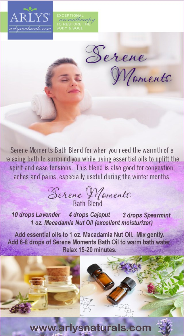 Serene Moments Bath Blend Recipe Jan 2018