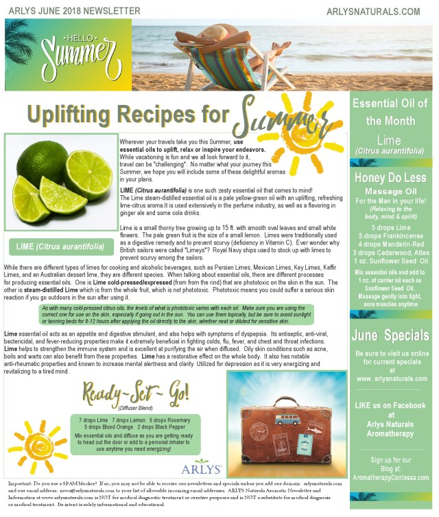 June 2018 Newsletter Lime2