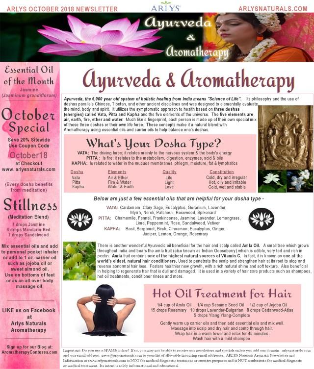 October 2018 Ayurveyda Aromatherapy