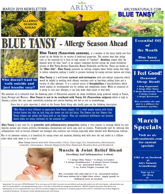 March 2019 Newsletter Blue Tansy2