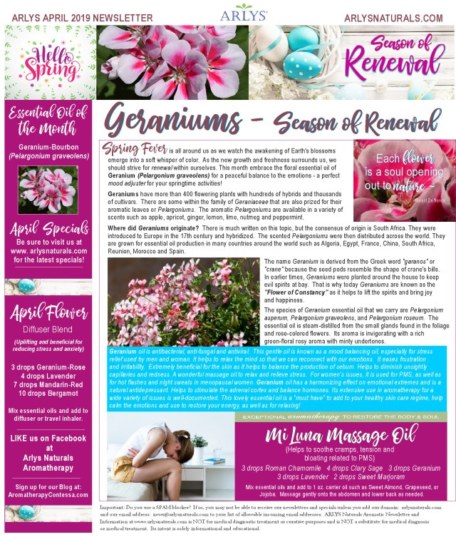 April 2019 Newsletter Renewal 2