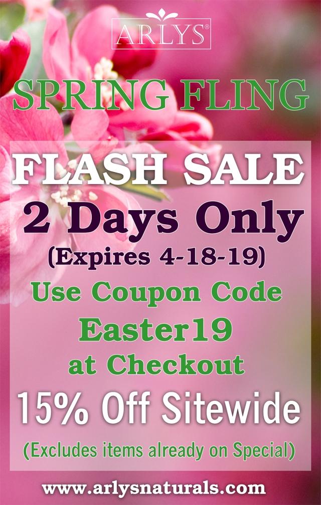 Spring Fling Flash Sale Ad April 2019b