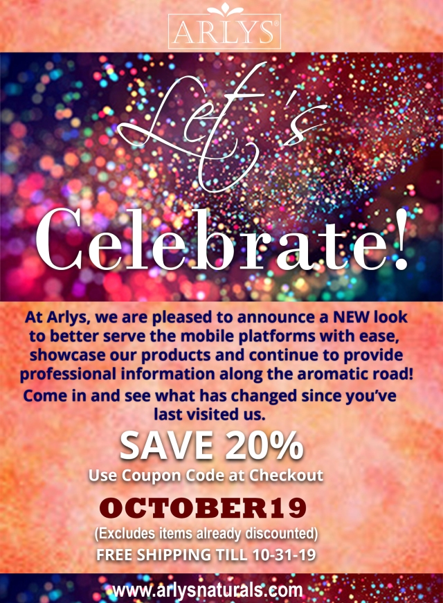 Oct 2019 Coupon and Re-launch 10-16-19