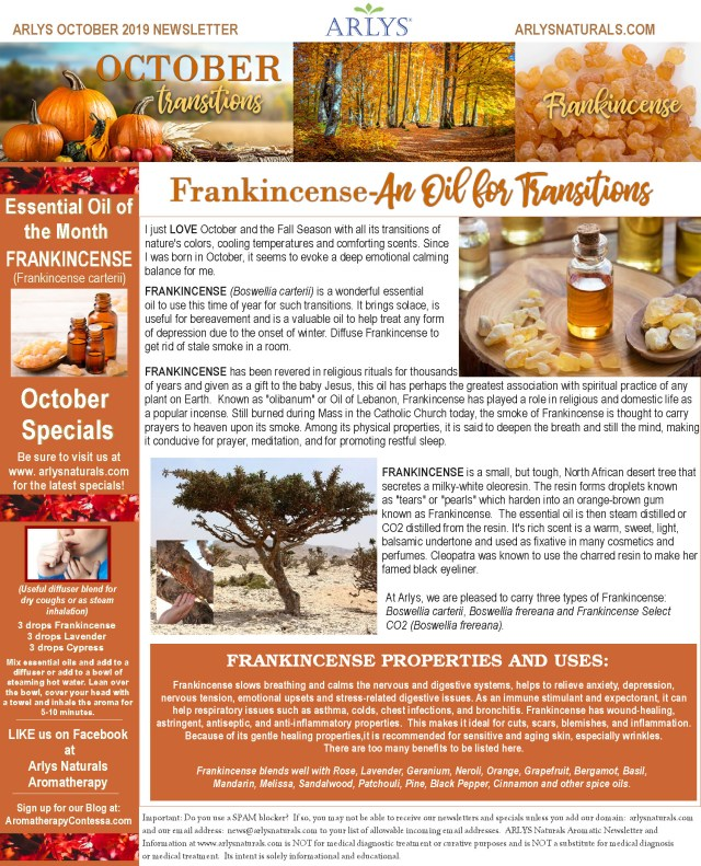 Oct2019 Newsletter-Transitions-Frankincense