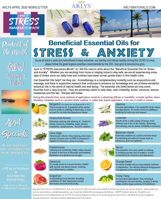 April 2020 Newsletter-Stress Anxiety2