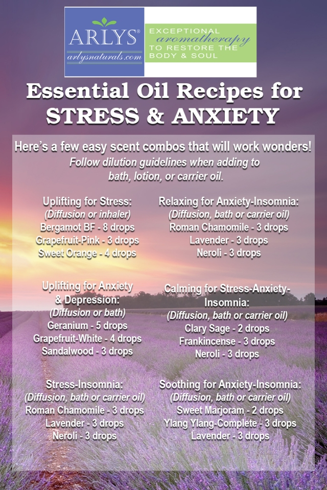 Essential Oil Recipes for Stress & Anxiety