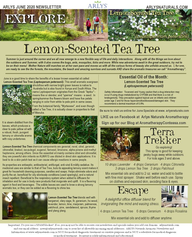 June 2020 Newsletter-Lemon Scented Tea Tree