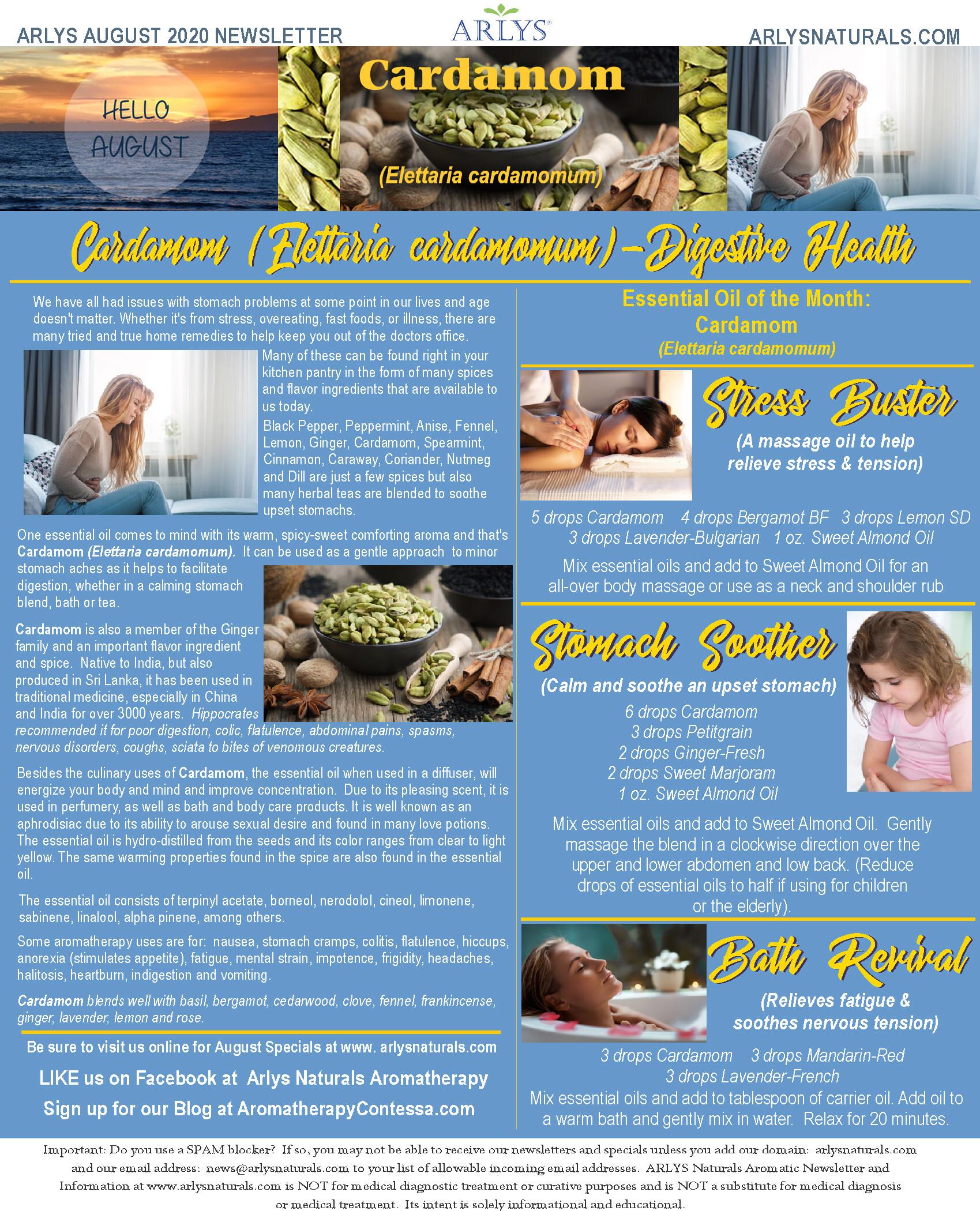 August 2020 Newsletter-Cardamom-Digestive Health